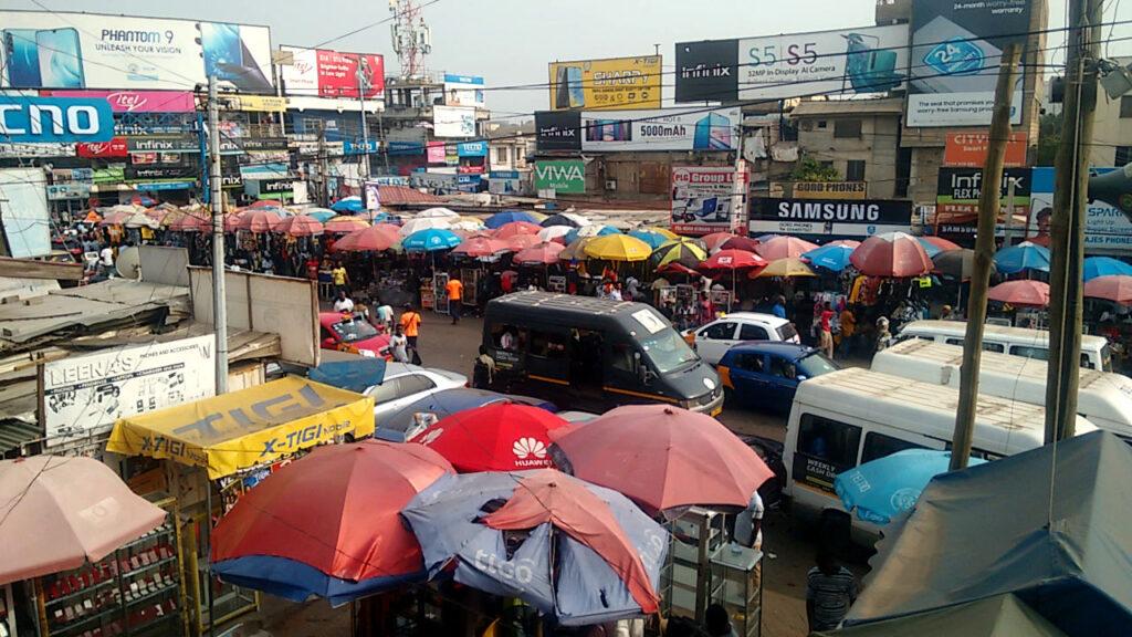 Circle in Accra von oben fotografiert