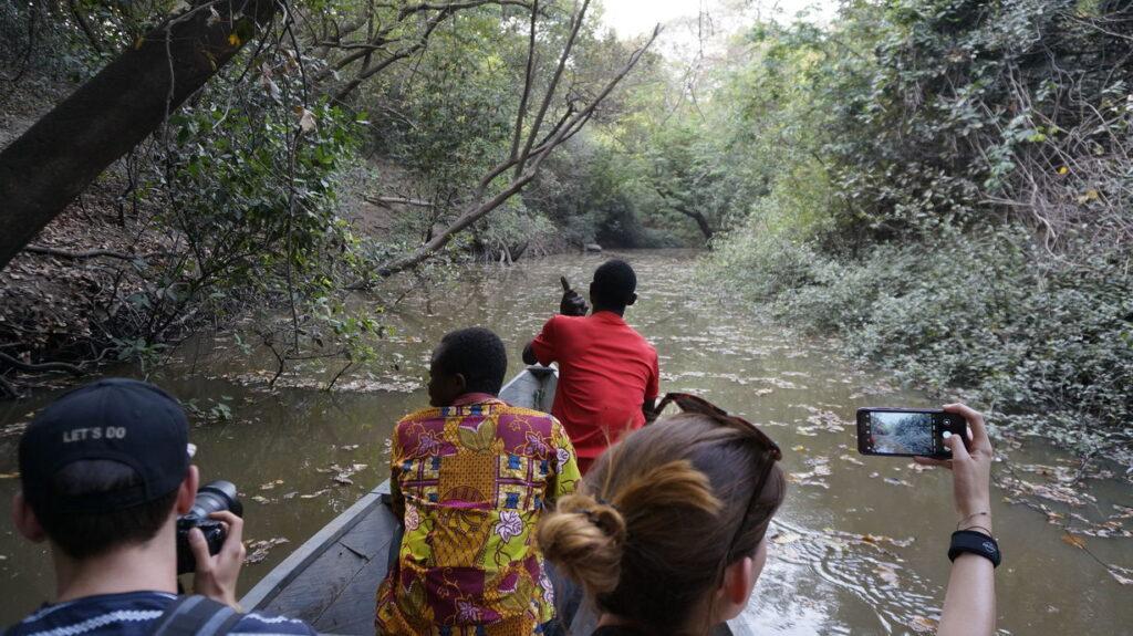 Boottour im Ecovillage Mognori