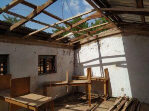 Innenansicht des ICT-Labs ohne Dach.